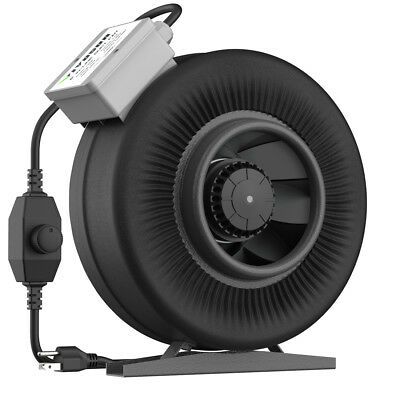 "VIVOSUN 4"" 6"" 8"" inch Inline Duct Fan Vent Exhaust Air Blower w/Speed Controller"