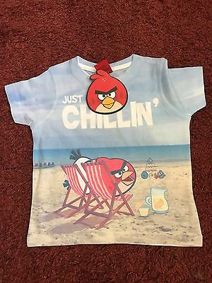 Angry Birds Boys Multi-Colour T-Shirt For Age 12 - 18 Months BNWT