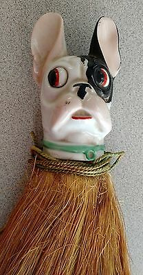Vintage Dog Head Clothes Brush ----- Made in Germany