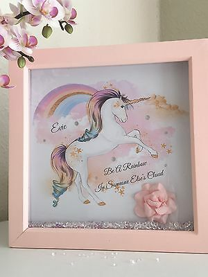Unicorn gift Personalised Gift for Girl New Baby Girls Bedroom Birthday present