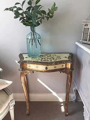 Antique Florentine Bedside Table Or Hall Table