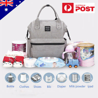AU Multifunctional Nappy Mummy Backpack Diaper Bags Baby Newborn Shoulder Bag