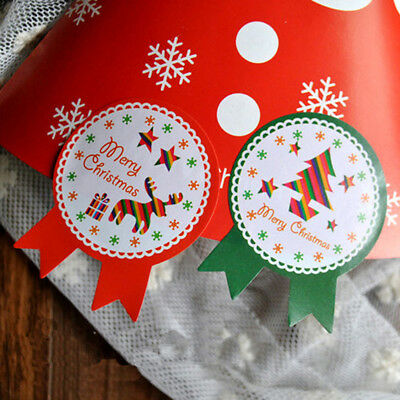1 box 80 PCS Holiday gift happy New Year and merry Christmas decoration stickers