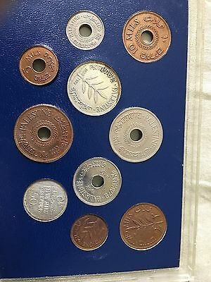 Set Of Palestine Coins 10 coins