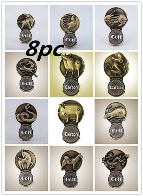 Chinese Zodiac Magnet Golf Ball Marker Clip On Hat Metal Magnetic Clamp 2017
