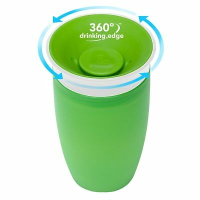Munchkin Miracle 360 Degree Sippy Cup 296 ml Green Blue Pink Non Spill NEW FAST