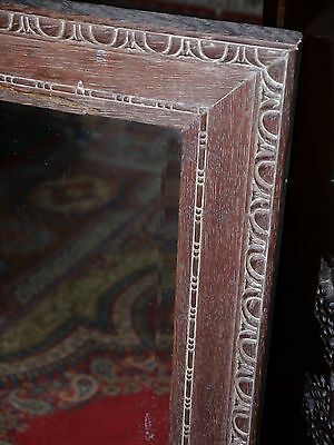 A Limed Oak Framed Mirror With 17Th C Style Egg And Dart Carving -  Dates C.1880