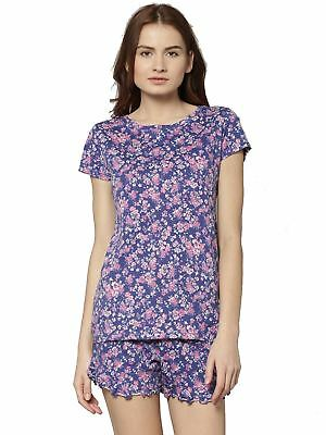 EX M&S Marks And Spencer Round Neck Short Sleeve Floral T-Shirt