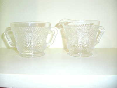 federal glass company Heritage depression glass RARE sugar and creamer