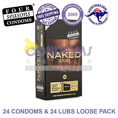Four Seasons Naked DUO Condoms (24 Condoms / 24 Lubricants Sachets) LOOSE PACK