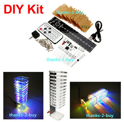 Crystal Cube 13*LED Music Spectrum Level Display VU Meter For Tube Amplifier DIY