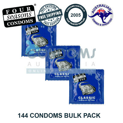 Four Seasons Regular Fitting Bulk Condom (144 Condoms) FREE SHIPPING