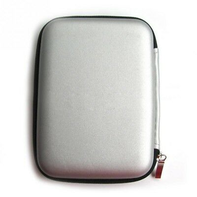 "Silver 2.5"" External HDD Hard Disk Case Pouch Cover Protector Bag"