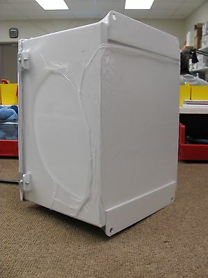 """Hoffman White Steel 12"""" x 10"""" x 08"""" Enclosure (P/N: A-12108CH) WITH BACKPLATE"""