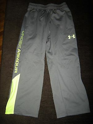 Brand New Boys Gray & Yellow Under Armour Track / Wind Pants, Size S