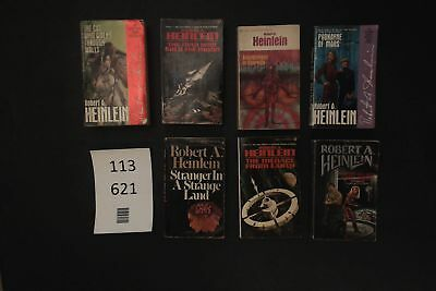 Lot of 7 Novels by Robert A. Heinlein (Paperback) #621