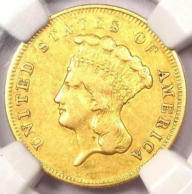 1856-S Three Dollar Indian Gold Piece $3 - NGC XF Details - Rare Certified Coin!