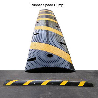 Reflective Modular Rubber Speed Bump and Cable Cover, 6 ft.