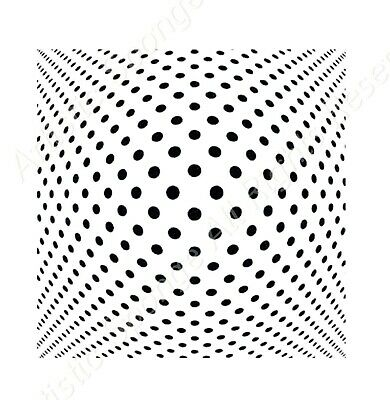 MODERN DOTS ILLUSION Reusable Stencil A5 A4 A3 Shabby Paint Wall Wood / Deco1