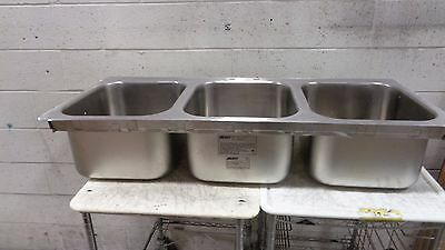 Eagle Group SR14-16-9.5-3 Three Compartment Stainless Steel Drop-In Sink