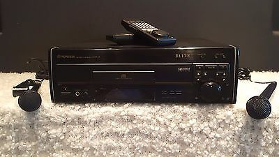 Pristine Pioneer Elite Cld-53(Ld/cdv/cd) Player 2 Mikes & 55 Movies (Bundle- 60)