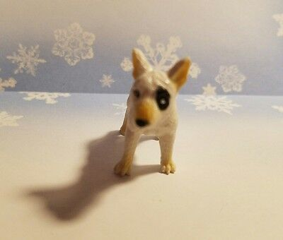BULL TERRIER DOG Plastic White & Black Figurine Collectible