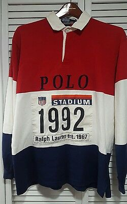 Vintage polo ralph lauren indian p wing  ski rare  1992 stadium rugby size L