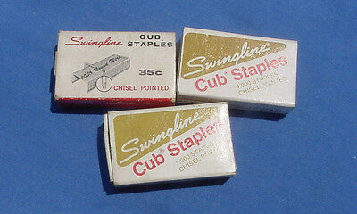 3 Boxers Swingline Cub Staples Chisel Pointed