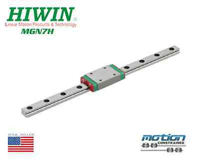 New Hiwin MGN7H Linear Guides MGN Series Linear Bearings / 25mm to 595mm Long