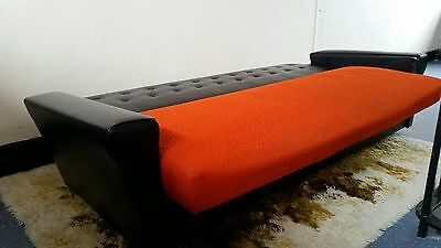 Vintage Retro Atomic Sofa - Original 1950s Lounge Sofa Bed Couch. Cocktail Bar