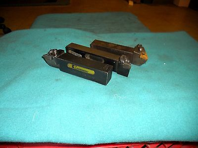 """(3) Indexable Insert Tool Holders; Kennametal & Carboloy 1-1/4"""" Shank"""