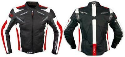 Leather Jacket Motorcycle Racing Apparel Sport CE Armored A-Pro Red L