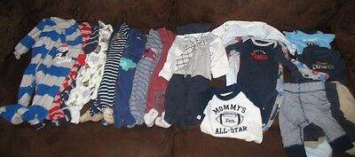 Boy Carter's Newborn Lot 25+ pieces Long Sleeve Pants Winter