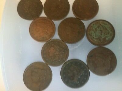 Large lot of Large Cents