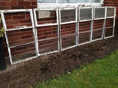Vintage Antique Reclaimed Metal Crittall Windows Art Deco (6 Available)