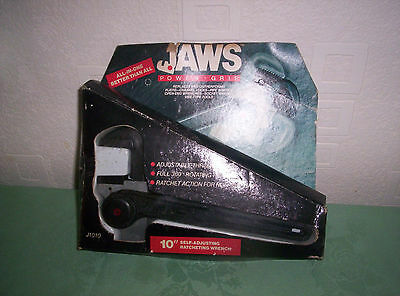 """Jaws Power Grip - 10"""" Self-Adjusting Ratcheting Wrench, boxed & unused."""