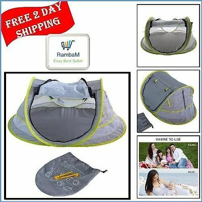 Baby Beach Play Tent UV Sun Shelter Automatic Pop Up Portable Beach Mosquito Net