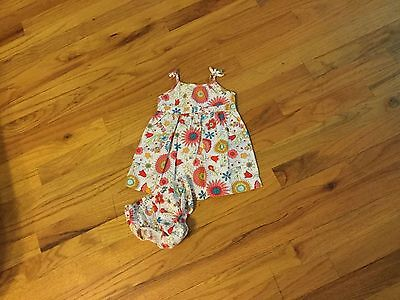 Girls Old Navy dress size 3-6 months sleeveless with flowers