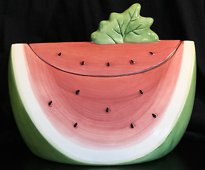 Watermelon Cookie Jar- Susan Winget (excellent price for this for this jar)