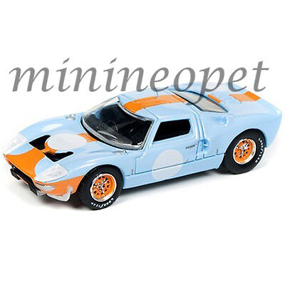 Autoworld Cp7431 1965 Ford Gt 40 1/64 Vintage Racing Gulf Oil Light Blue