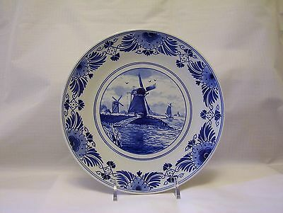 Royal Delft de porceleyne fles wall plate blue white windmill decoration 1991
