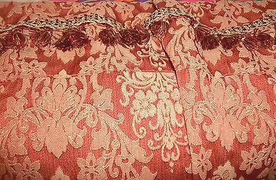 Damask drapes vintage antique