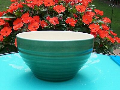 Collectible Emile Henry Small Kitchen Mixing Bowl - France - Green - G5 G4