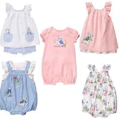 5dd50892fb0 GYMBOREE BABY GIRL 2 Piece Polka Dot Romper Bubble Peter Rabbit 6-12 ...