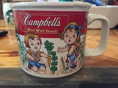Vintage 1997 Campbell's Soup Mug 12 FL Oz Cup Kids Garden Design by West Wood