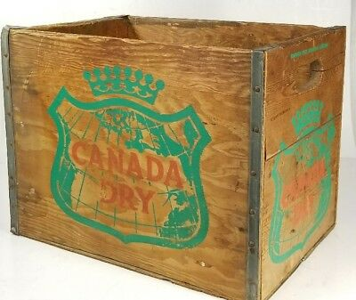 Vintage Canada Dry Ginger Ale Soda Wood Crate/Box Un-dated