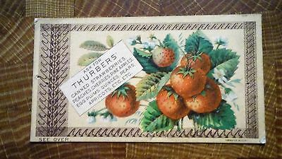 H.K. & F. B. Thurber & Company Home-Made Preserves      Victorian Trade Card