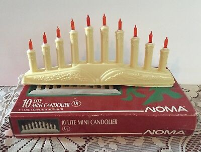 Vintage Noma 10 Lite Mini Candolier Christmas Lights