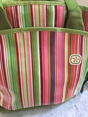 Fleurville striped Diaper Bag with *minor* flaws