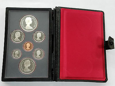 1981 Royal Canadian Mint Proof Set with Cert & Box 7-Piece CLEAN